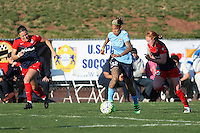 Piscataway, NJ - Sunday April 24, 2016: Sky Blue FC forward Tasha Kai (32) during a National Women's Soccer League (NWSL) match at Yurcak Field.