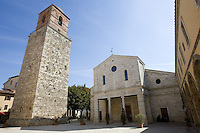 Veduta esterna del Duomo di Chiusi.<br /> Exterior view of the Cathedral of Chiusi.<br /> UPDATE IMAGES PRESS/Riccardo De Luca