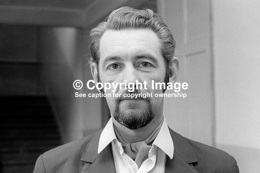 Sergeant Jack Scully, head, Drugs Squad, RUC, Royal Ulster Constabulary, N Ireland, May, 1970, 197005000195<br />