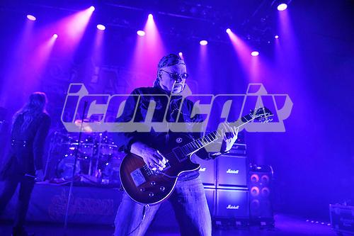 SAXON - guitarist Paul Quinn - performing live at the Empire in Shepherds Bush London UK - 05 Nov 2016.  Photo credit: Zaine Lewis/IconicPix
