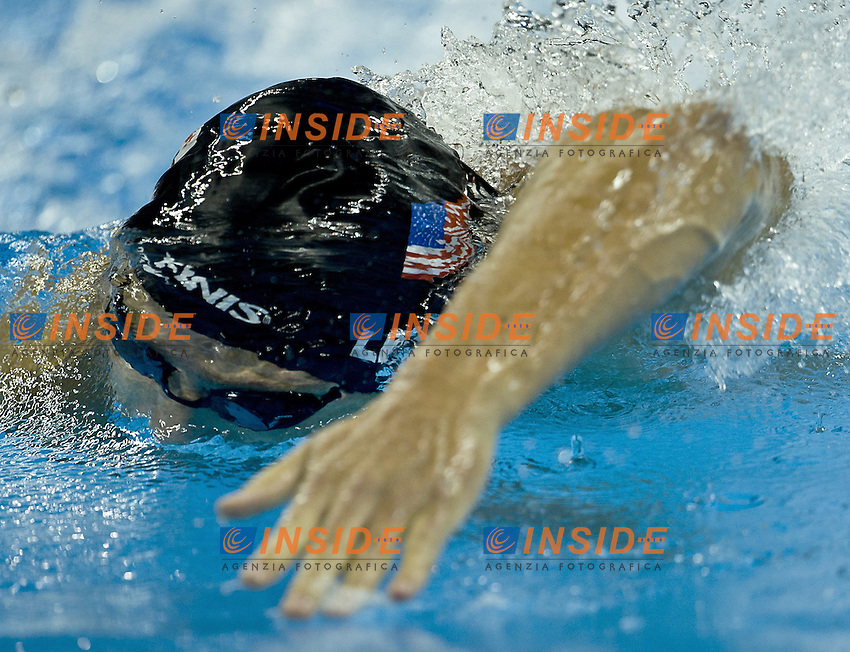 Shanghai , China (CHN) 16-31 July 2001.XIV FINA Swimming World Championships.day 09.Swimming.Final.4x100 Relay free style men.Michael Phelps USA.Photo Insidefoto / Giorgio Scala