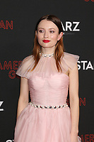 """LOS ANGELES - MAR 5:  Emily Browning at the """"American Gods"""" Season 2 Premiere at the Theatre at Ace Hotel on March 5, 2019 in Los Angeles, CA"""