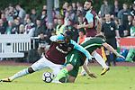 28.07.2017, Sportplatz, Schneverdingen, GER, FSP SV Werder Bremen (GER) vs WestHam United (ENG), <br /> <br /> im Bild<br /> Robert Snodgrass (WestHam)<br /> Philipp Bargfrede (Werder Bremen #44)<br /> <br /> Foto &copy; nordphoto / Kokenge