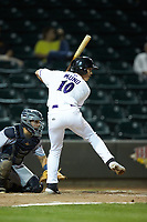 JJ Muno (10) of the Winston-Salem Dash at bat against the Lynchburg Hillcats at BB&T Ballpark on May 9, 2019 in Winston-Salem, North Carolina. The Dash defeated the Hillcats 4-1. (Brian Westerholt/Four Seam Images)