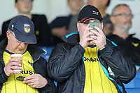 Oxford United supporters during the Sky Bet League 1 match between Peterborough and Oxford United at the ABAX Stadium, London Road, Peterborough, England on 30 September 2017. Photo by David Horn.