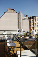 The roof terrace of the house has a spectacular 360 degree view of Paris