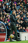 Manager Juan Ramon Lopez Muniz of Levante UD reacts during the La Liga 2017-18 match between FC Barcelona and Levante UD at Camp Nou on 07 January 2018 in Barcelona, Spain. Photo by Vicens Gimenez / Power Sport Images