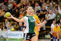 Angie Geschke (VFL) wirft, zieht ab