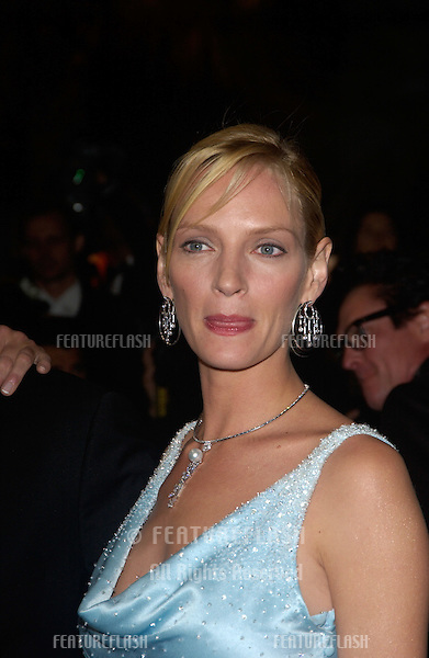 UMA THURMAN at the gala screening & party at the Cannes Film Festival for Kill Bill Volume II, which was screening out of competition..May 16, 2004