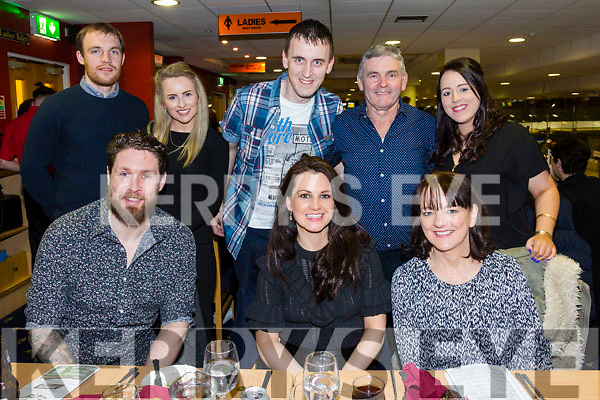 Keith O'Connor, Cassandra McManus,  Rosemary McManus, Kaylan Young, Hayley McManus, Dave  Madden, Carina McManus enjoying a night at the Dogs in the Kingdom Greyhound Stadium on Saturday