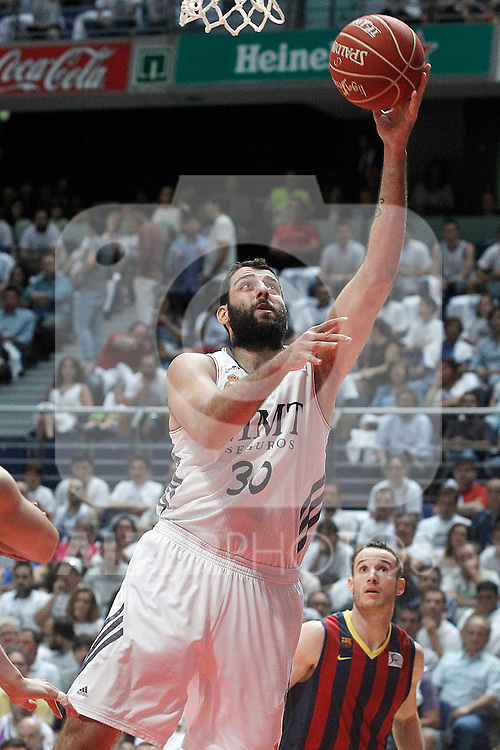 Real Madrid's Ioannis Bourousis during Liga Endesa ACB 1st Final match.June 19,2014. (ALTERPHOTOS/Acero)