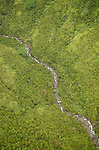 Aerial view of Wailua River, Kauai, Hawaii