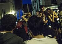 Paris Fete de la musique   Festa della Musica 2015  Music Festival  Cantanti su un palco