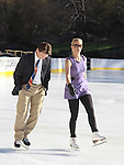 Figure skaters Todd Eldrede and Nicole Bobek - The 2012 Skating with the Stars  - a benefit gala for Figure Skating in Harlem celebrating 15 years on April 2, 2012 at Central Park's Wollman Rink, New York City, New York.  (Photo by Sue Coflin/Max Photos)