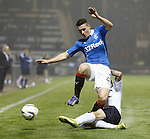 Fraser Aird tackled on the wing