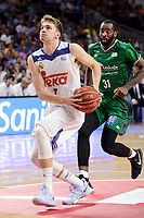Real Madrid's Luka Doncic and Unicaja Malaga's Christian Eyenga during semi finals of playoff Liga Endesa match between Real Madrid and Unicaja Malaga at Wizink Center in Madrid, June 02, 2017. Spain.<br /> (ALTERPHOTOS/BorjaB.Hojas) /NortePhoto.com