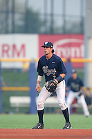 First overall draft pick in the 2015 Major League Baseball Player Draft, Dansby Swanson (7) of the Hillsboro Hops in the field at shortstop during a game against the Boise Hawks at Ron Tonkin Field on August 22, 2015 in Hillsboro, Oregon. Boise defeated Hillsboro, 6-4. (Larry Goren/Four Seam Images)