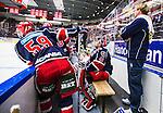 S&ouml;dert&auml;lje 2013-12-12 Ishockey Hockeyallsvenskan S&ouml;dert&auml;lje SK - Mora IK :  <br /> S&ouml;dert&auml;lje m&aring;lvakt 43 Sebastian Idoff sitter i avbytarb&aring;set i slutet av matchen<br /> (Foto: Kenta J&ouml;nsson) Nyckelord:  portr&auml;tt portrait