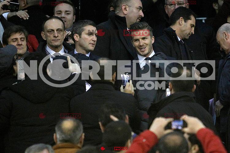 Paris Saint-Germain's David Beckham during Champions League 2012/2013 match.February 12,2013. (ALTERPHOTOS/Acero) /NortePhoto