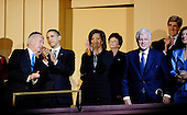 Washington, DC - March 8, 2009 -- United States Vice President Joe Biden (L) U.S. President Barack Obama  and first lady Michelle Obama (C) join Senator Ted Kennedy (Democrat- Massachusetts) (3-R) and his wife Victoria (R) and Senator John Kerry (Democrat- Massachusetts) (2-R) at a musical tribute to celebrate Kennedy's birthday at the Kennedy Center in Washington, DC., USA, on Sunday, 08 March 2009.  .Credit: Chris Usher - Pool via CNP