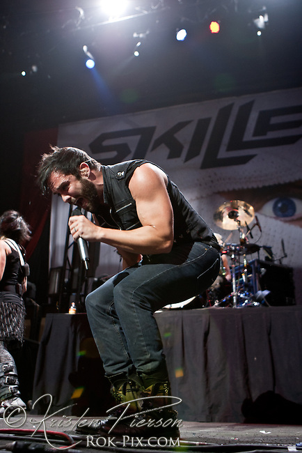 Skillet perform on the Avalanche Tour on May 1 at Mohegan Sun Casino in Ct.
