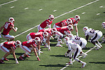 Wisconsin Badgers offense lines up during an NCAA College Football game against the Florida Atlantic Owls Saturday, September 9, 2017, in Madison, Wis. The Badgers won 31-14. (Photo by David Stluka)