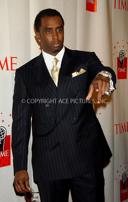 """WWW.ACEPIXS.COM . . . . . ....NEW YORK, MAY 8, 2006....Sean """"Diddy"""" Combs at Time Magazine's 100 Most Influential People 2006.....Please byline: KRISTIN CALLAHAN - ACEPIXS.COM.. . . . . . ..Ace Pictures, Inc:  ..(212) 243-8787 or (646) 679 0430..e-mail: picturedesk@acepixs.com..web: http://www.acepixs.com"""