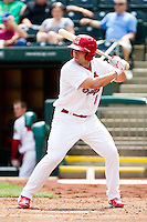 Chris Swauger (8) of the Springfield Cardinals at bat during a game against the Midland RockHounds on April 19, 2011 at Hammons Field in Springfield, Missouri.  Photo By David Welker/Four Seam Images
