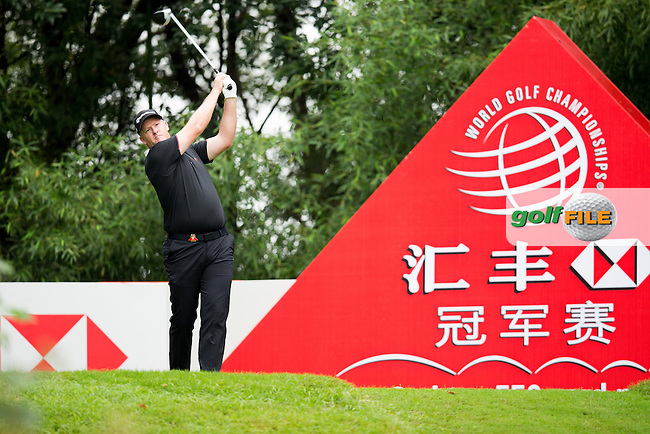 Marcus Fraser (AUS) on the 2nd tee during the 1st round f the WGC-HSBC Champions, Sheshan International GC, Shanghai, China PR.  27/10/2016<br /> Picture: Golffile | Fran Caffrey<br /> <br /> <br /> All photo usage must carry mandatory copyright credit (&copy; Golffile | Fran Caffrey)