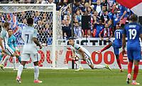 Ousmane Dembele (Dortmund) of France scores his winning goal during the International Friendly match between France and England at Stade de France, Paris, France on 13 June 2017. Photo by David Horn/PRiME Media Images.