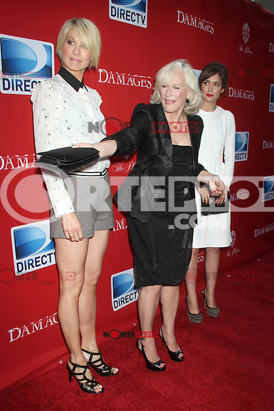 June 28, 2012 Jenna Elfman, Glenn Close and Rose Byrne at the 'Damages' Season 5 Premiere at The Paris Theatre on June 28, 2012 in New York City. © RW/MediaPunch Inc. /*NORTEPHOTO.COM*<br />