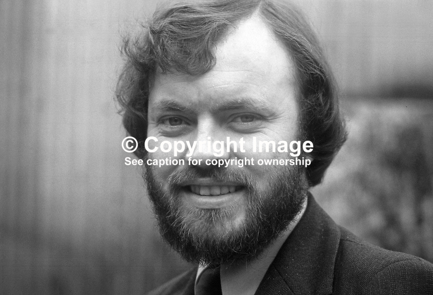 Gerry O'Hanlon, aka Gerald O'Hanlon, Mullaghbawn, Co Armagh, N Ireland, Republican Clubs candidate, South Down, October 1975 N Ireland Convention. He is also a social worker, trade unionist, socialist. 19751000412GOH1..Copyright Image from Victor Patterson, 54 Dorchester Park, Belfast, UK, BT9 6RJ.  Tel: +44 28 90661296  Mobile: +44 7802 353836.Email: victorpatterson@me.com Email: victorpatterson@gmail.com..For my Terms and Conditions of Use go to http://www.victorpatterson.com/ and click on Terms & Conditions