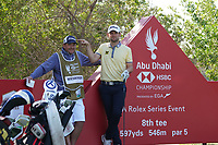 Bernd Wiesberger (AUT) on the 8th tee during the Pro-Am of the Abu Dhabi HSBC Championship 2020 at the Abu Dhabi Golf Club, Abu Dhabi, United Arab Emirates. 15/01/2020<br /> Picture: Golffile | Thos Caffrey<br /> <br /> <br /> All photo usage must carry mandatory copyright credit (© Golffile | Thos Caffrey)