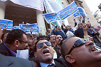 EGYPT / Cairo / 27.11.2012 / Judges and lawyers demonstrate against the president Morsi's decree, in front of Lawyers' syndicate.<br /> <br /> &copy; Giulia Marchi