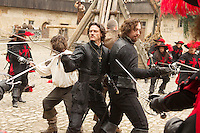 LOGAN LERMAN, LUKE EVANS, RAY STEVENSON & MATTHEW MACFADYEN .in The Three Musketeers .*Filmstill - Editorial Use Only*.CAP/PLF.Supplied by Capital Pictures.