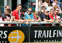 London fans in good spirits during the Kingstone Press Championship game between London Broncos and Workington at Ealing Trailfinders, Ealing, on Sun June 5, 2016