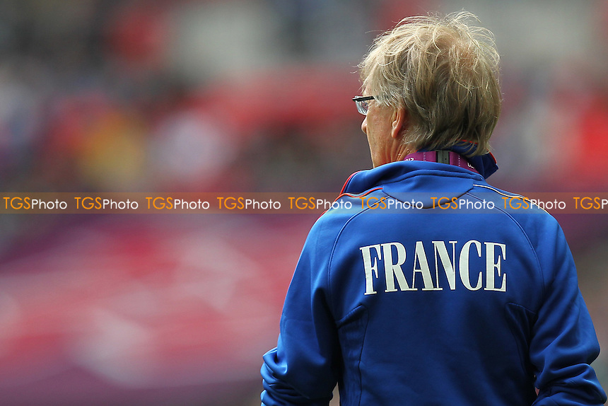 A French coach is seen before the game - France Women vs Japan Women - Womens Olympic Football Tournament London 2012 Semi-Final at Wembley Stadium - 06/08/12 - MANDATORY CREDIT: Gavin Ellis/SHEKICKS/TGSPHOTO - Self billing applies where appropriate - 0845 094 6026 - contact@tgsphoto.co.uk - NO UNPAID USE.