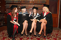 NO REPRO FEE. 25/11/2011. Independent College Dublin graduations. Pictured after graduating from Independent College Dublin are L-R Orlaith Magee from Malahide, LLM, Aisling Hearns from Wicklow, MA Psychotherapy, Kerri Ann Warren from Malahide MA Dispute Resolution and Claire Graydon LLB . For more info please contact Annie Leger annie.leger@independentcolleges.ie.T: +353 1 635 5811.Picture James Horan/Collins