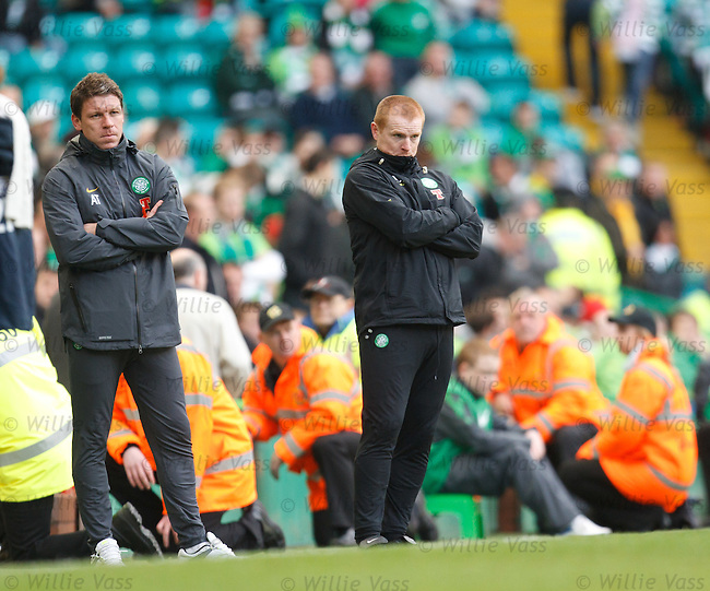 Alan Thompson and Neil Lennon have had better days on the sidelines