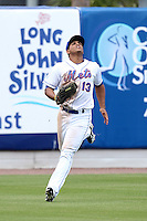 St. Lucie Mets outfielder Rafael Fernandez #13 during a game against the Jupiter Hammerheads at Digital Domain Park on May 2, 2012 in Port St. Lucie, Florida.  St. Lucie defeated Jupiter 3-2.  (Mike Janes/Four Seam Images)