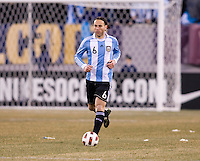 Gabriel Milito. The USMNT tied Argentina, 1-1, at the New Meadowlands Stadium in East Rutherford, NJ.