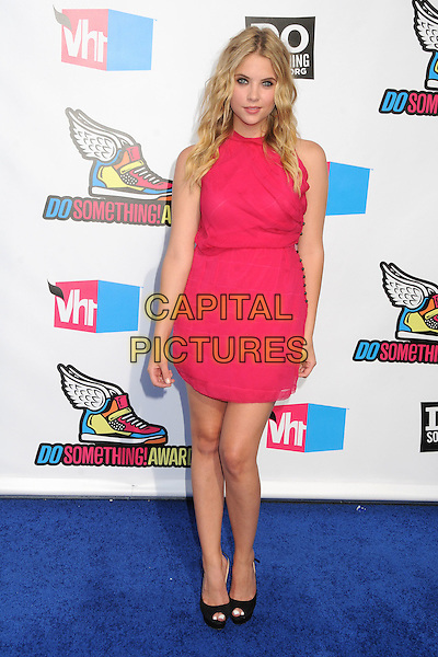 Ashley Benson.The 2011 Do Something Awards held at The Palladium in Hollywood, California, USA..August 14th, 2011.full length pink sleeveless dress .CAP/ADM/BP.©Byron Purvis/AdMedia/Capital Pictures.