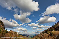 Clouds and Oconaluftee Valley, Great Smoky Mountains National Park, North Carolina