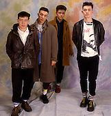 PALE FOUNTAINS - L-R: Tom Whelan, Chris McCaffery, John Head, Mick Head - photosession in London UK - 13 Mar 1985.  Photo credit: George Chin/IconicPix