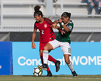 Bradenton, FL - Sunday, June 12, 2018: Makenna Morris, Nicole Perez during a U-17 Women's Championship Finals match between USA and Mexico at IMG Academy.  USA defeated Mexico 3-2 to win the championship.