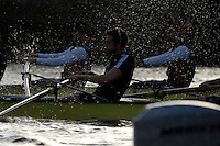 PUTNEY, LONDON, ENGLAND, 05.03.2006,Oxford No.7 Tom Parker applies the power during the afternoon fixture between Oxford ans a USA International eight, Pre 2006 Boat Race Fixtures,.   © Peter Spurrier/Intersport-images.com[Mandatory Credit Peter Spurrier/ Intersport Images] Varsity Boat Race, Rowing Course: River Thames, Championship course, Putney to Mortlake 4.25 Miles