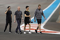 28th November 2019; Yas Marina Circuit, Abu Dhabi, United Arab Emirates; Formula 1 Abu Dhabi Grand Prix, arrivals day; Jack Aitken, Reserve Driver Renault Sport Formula 1 Team walks the circuit with his Formula 2 team - Editorial Use