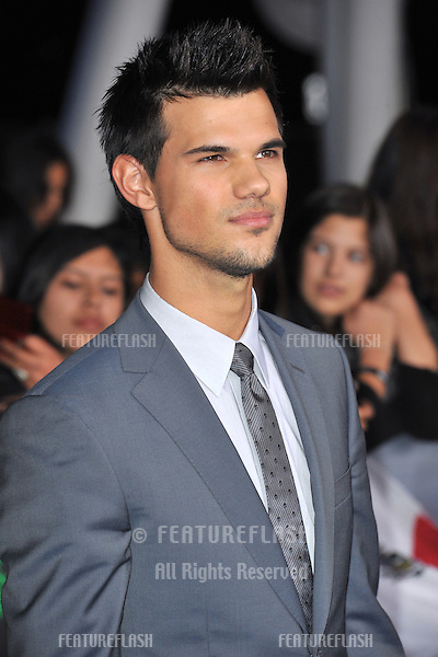 "Taylor Lautner at the world premiere of his movie ""The Twilight Saga: Breaking Dawn - Part 2"" at the Nokia Theatre LA Live..November 12, 2012  Los Angeles, CA.Picture: Paul Smith / Featureflash"