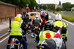 LONDON, ENGLAND, 22 May ,2014.  Bikers leave from Greenwich Park to travel to Woolwich to mark the first anniversary of the murder of Fusilier Lee Rigby  near his Woolwich barracks.
