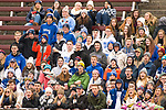 NEW BRITAIN, CT-111817JS17- Lewis Mills' student body come out to cheer on their Spartans during their Class M state final game against Suffield Saturday at Willow Brook Park in New Britain.<br /> Jim Shannon Republican-American